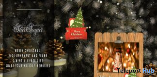 Merry Christmas 2020 Ornament & Frame December 2020 Gift by Star Sugar - Teleport Hub - teleporthub.com