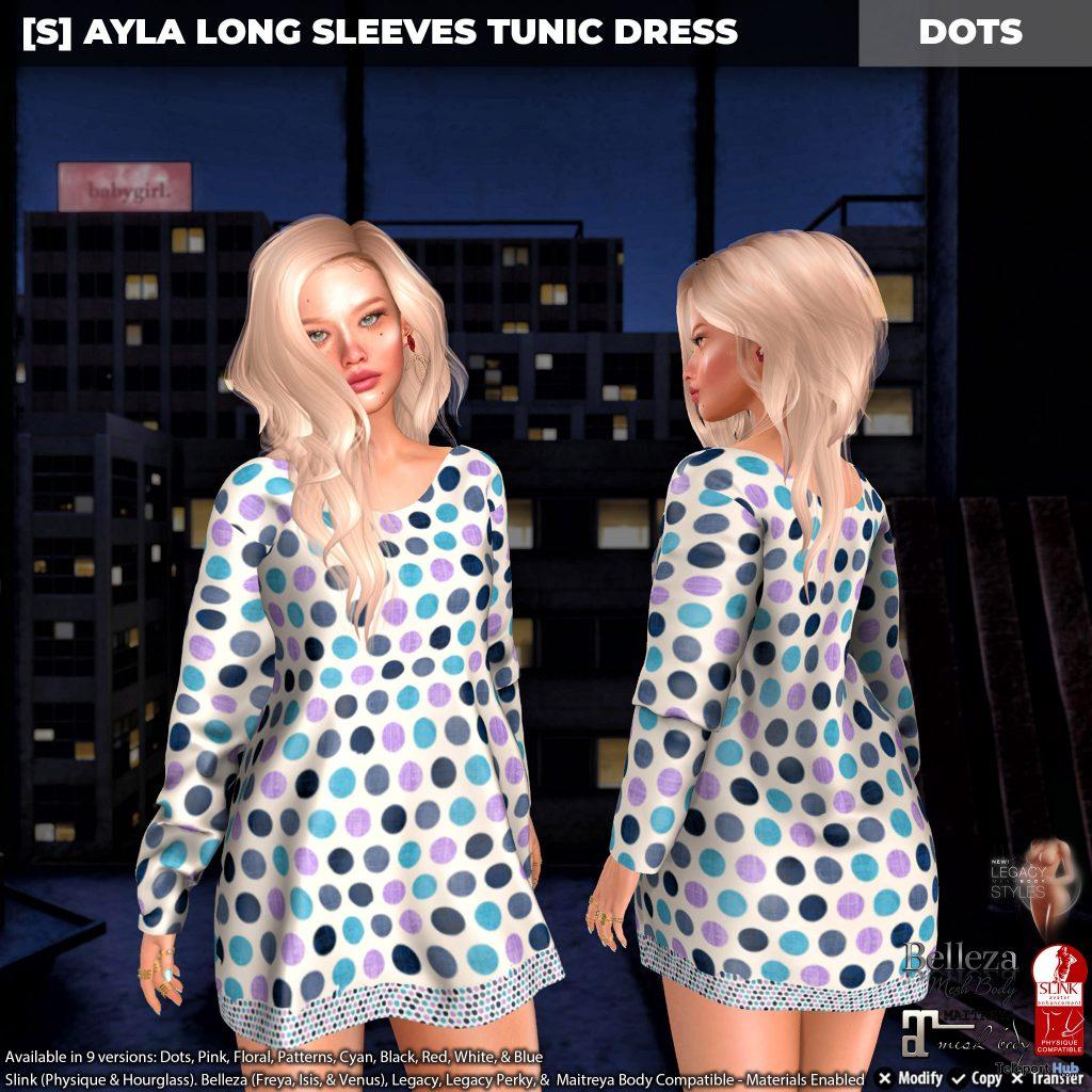 New Release: [S] Ayla Long Sleeves Tunic Dress by [satus Inc] - Teleport Hub - teleporthub.com