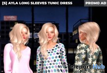 New Release: [S] Ayla Long Sleeves Tunic Dress by [satus Inc] - Teleport Hub - teleporthub.com