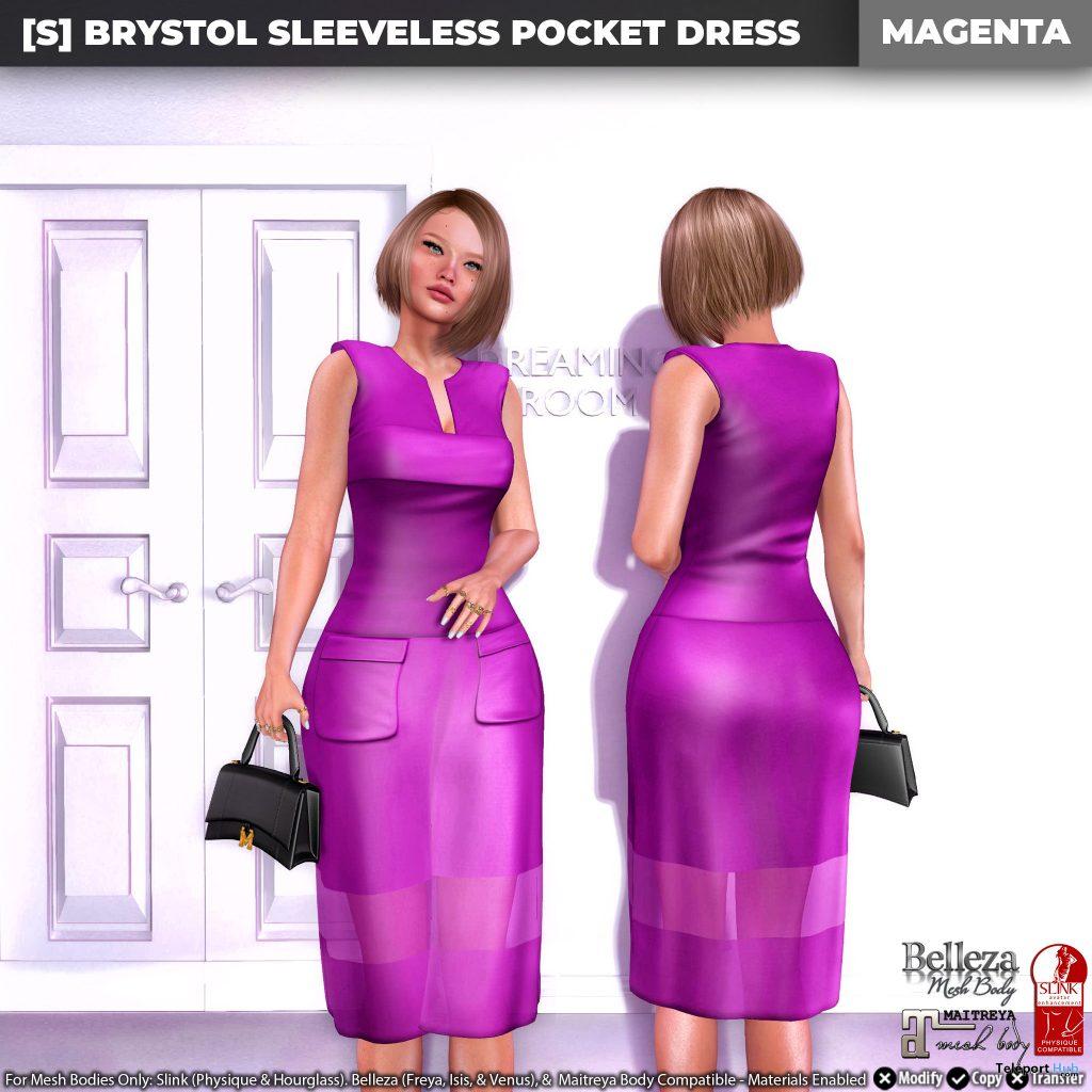 New Release: [S] Brystol Sleeveless Pocket Dress by [satus Inc] - Teleport Hub - teleporthub.com