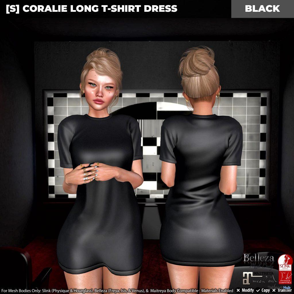 New Release: [S] Coralie Long T-Shirt Dress by [satus Inc] - Teleport Hub - teleporthub.com