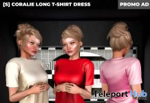New Release: [S] Coralie Long T-Shirt Dress by [satus Inc] - Teleport Hub - teleporthub.com