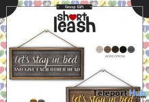 Stay In Bed Wall Sign December 2020 Group Gift by Short Leash - Teleport Hub - teleporthub.com