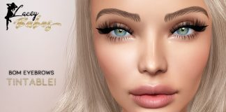 BOM Eyebrows Tintable 5L Promo by LACEY BABES - Teleport Hub - teleporthub.com