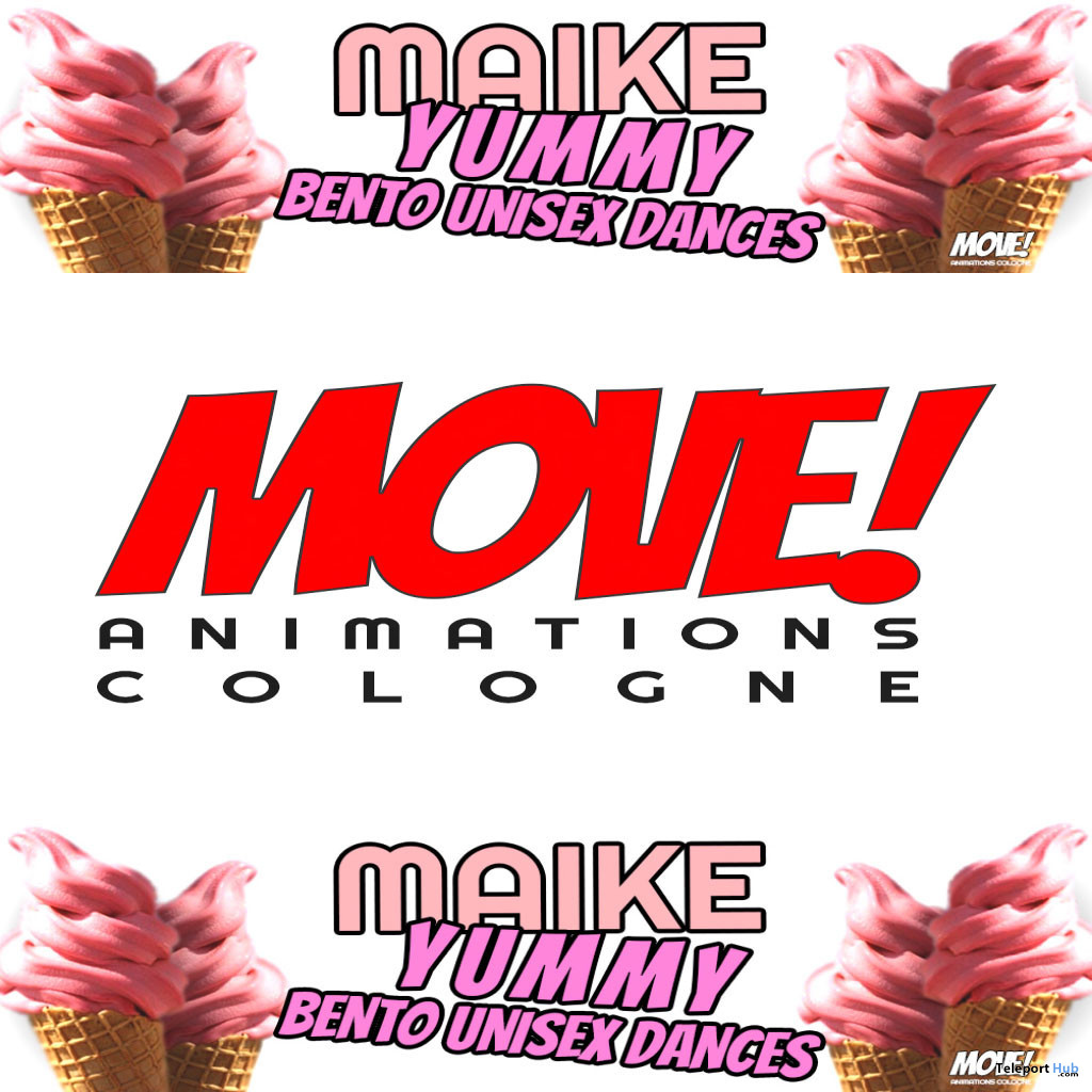 New Release: Maike Bento Dance Pack by MOVE! Animations Cologne - Teleport Hub - teleporthub.com