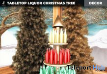 New Release: Tabletop Liquor Christmas Tree by [satus Inc] - Teleport Hub - teleporthub.com
