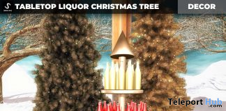 New Release: Tabletop Liquor Christmas Tree by [satus Inc] - Teleport Hub - teleporthub.com