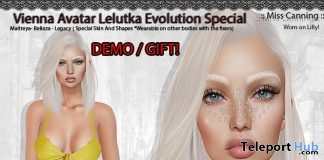 Vienna Skin For Lelutka Evolution Special Edition December 2020 Group Gift by Miss Canning - Teleport Hub - teleporthub.com