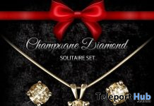 Solitaire Set Champagne Diamond January 2021 Group Gift by EarthStones Jewelry - Teleport Hub - teleporthub.com