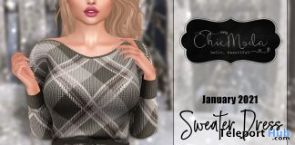 Sweater Dress January 2021 Group Gift by ChicModa - Teleport Hub - teleporthub.com
