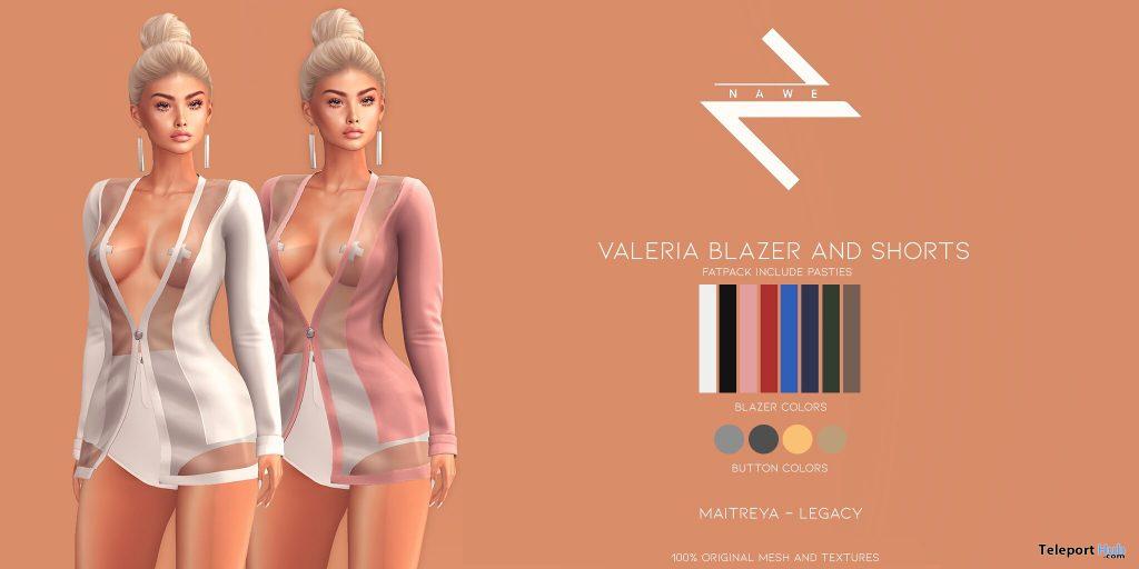 New Release: Valeria Blazer and Shorts by NAWE @ WIP Event January 2021 - Teleport Hub - teleporthub.com