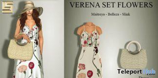 Verena Flowers Dress, Shoes, & Handbag January 2021 Group Gift by LS STORE - Teleport Hub - teleporthub.com