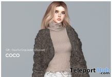 Faux Fur Crop Jacket Charcoal January 2021 Group Gift by COCO Designs - Teleport Hub - teleporthub.com