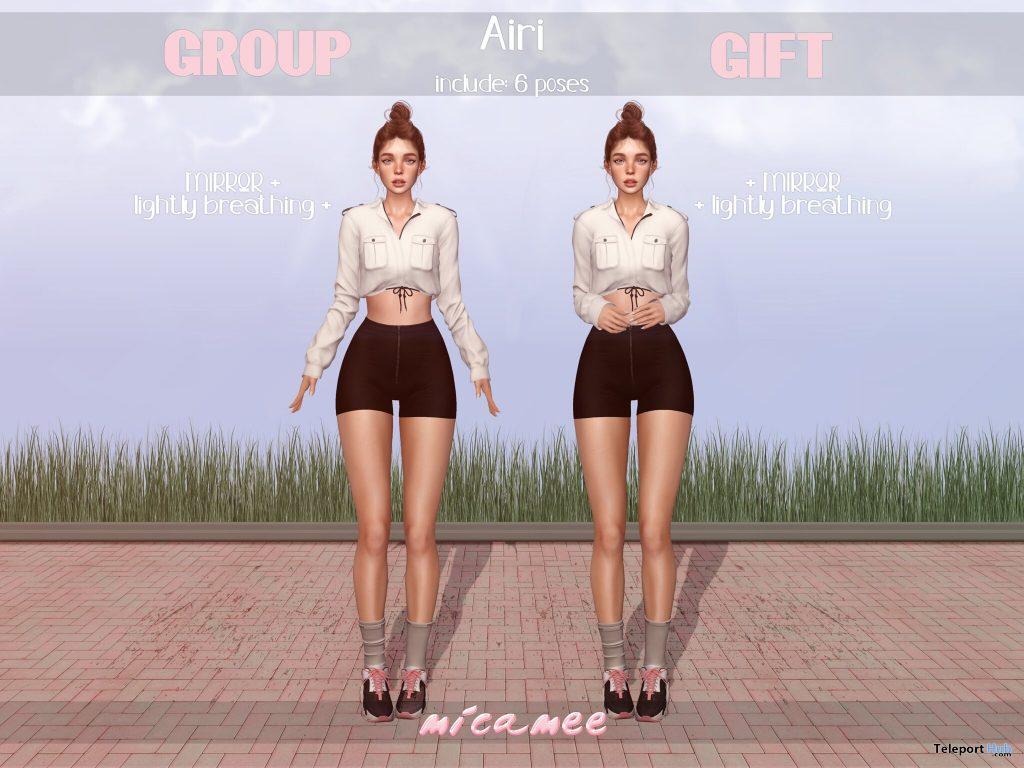 Airi Poses January 2021 Group Gift by micamee - Teleport Hub - teleporthub.com