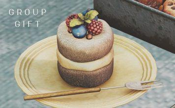 Star of Dawn Chocolate Cake January 2021 Group Gift by Cinoe - Teleport Hub - teleporthub.com