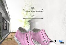 Laceless Sripon Sneakers January 2021 Group Gift by S@BBiA - Teleport Hub - teleporthub.com