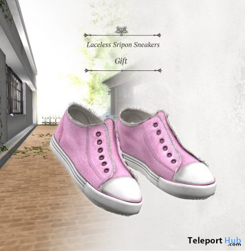 Laceless Sripon Sneakers January 2021 Group Gift by S@BBiA - Teleport Hub - teleporthub.com