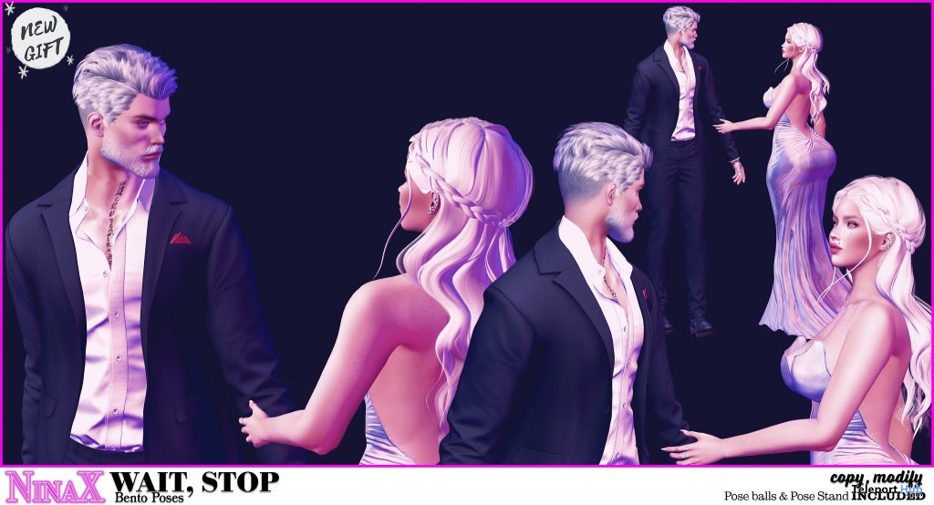 Wait, Stop Couple Pose January 2021 Group Gift by NinaX - TelepWait, Stop Couple Pose January 2021 Group Gift by NinaX - Teleport Hub - teleporthub.comort Hub - teleporthub.com