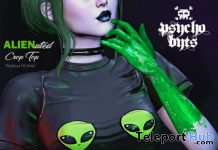 ALIENated Crop Top January 2021 Gift by PSYCHO Byts - Teleport Hub - teleporthub.com