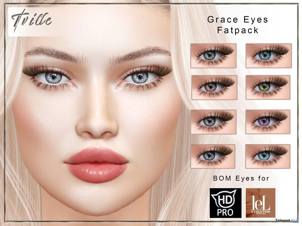 Grace Eyes BOM Fatpack January 2021 Group Gift by Tville - Teleport Hub - teleporthub.com