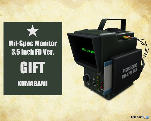 MilSpecMonitor 3.5FD January 2021 Gift by KUMAGAMI - Teleport Hub - teleporthub.com
