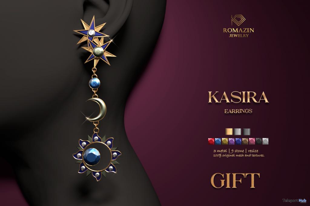 Kasira Earrings January 2021 Group Gift by Romazin Jewelry - Teleport Hub - teleporthub.com