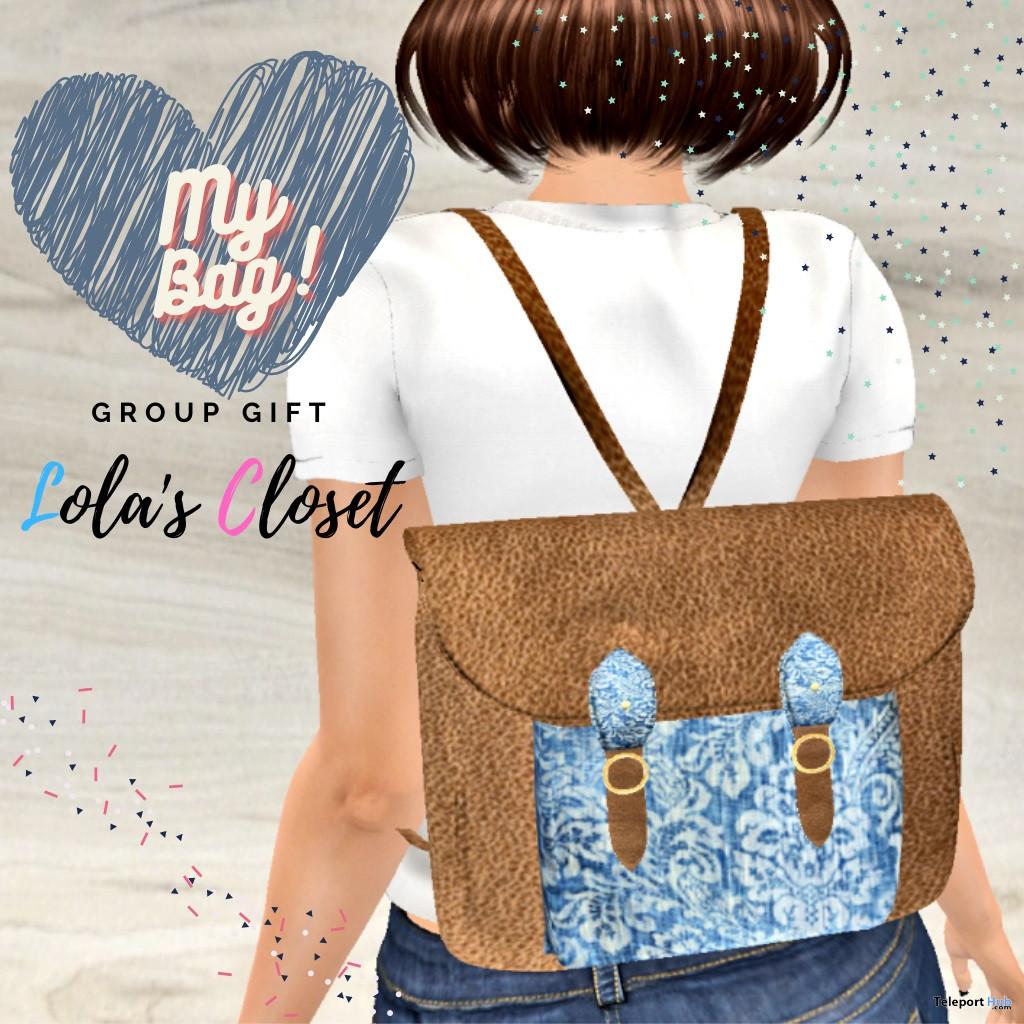 My Bag Leather & Jean January 2021 Group Gift by Lola's Closet - Teleport Hub - teleporthub.com