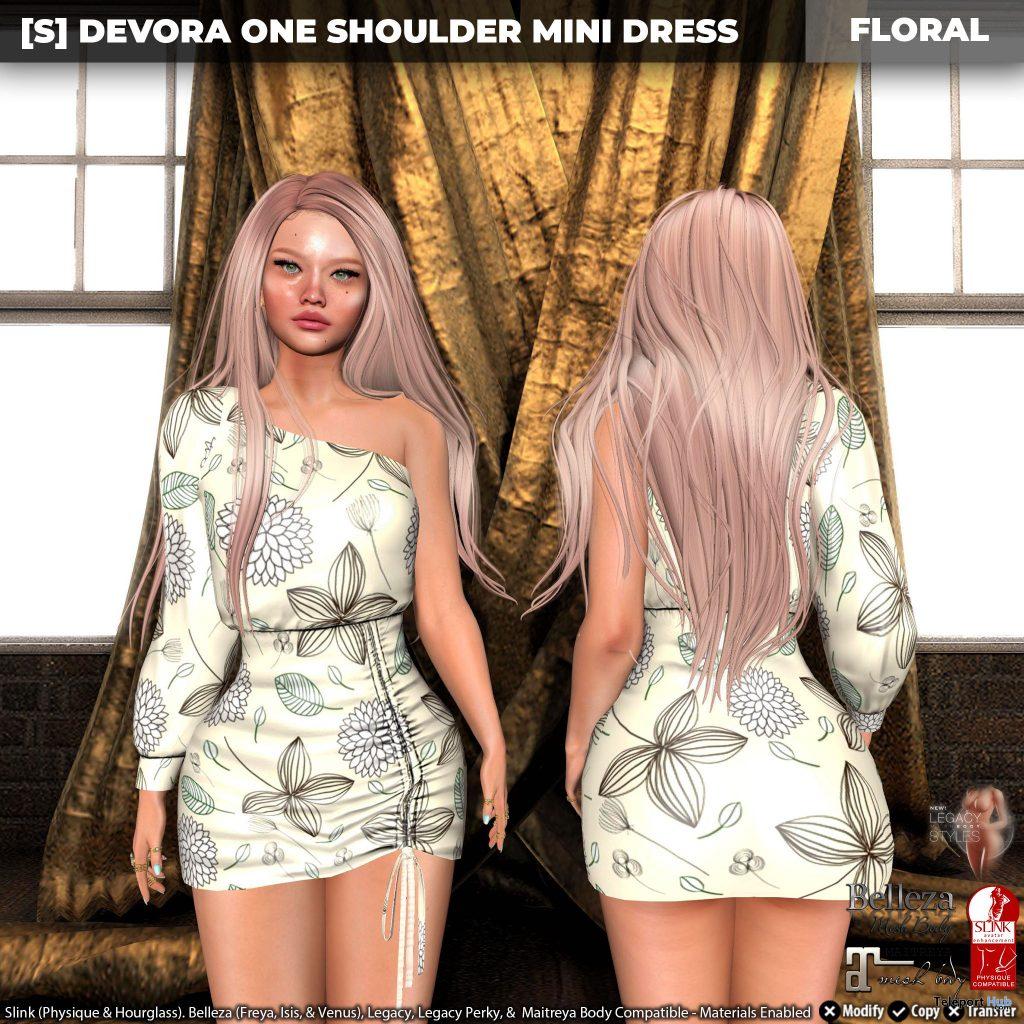 New Release: Devora One Shoulder Mini Dress by [satus Inc] - Teleport Hub - teleporthub.com