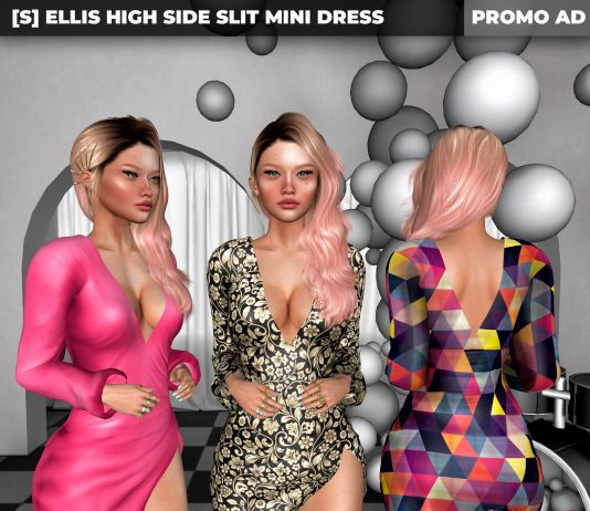 New Release: [S] Ellis High Side Slit Mini Dress by [satus Inc] - Teleport Hub - teleporthub.com