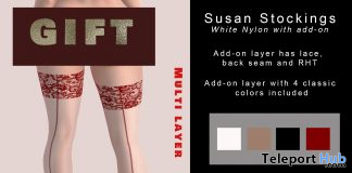 Susan Stockings White January 2021 Group Gift by Tville - Teleport Hub - teleporthub.com