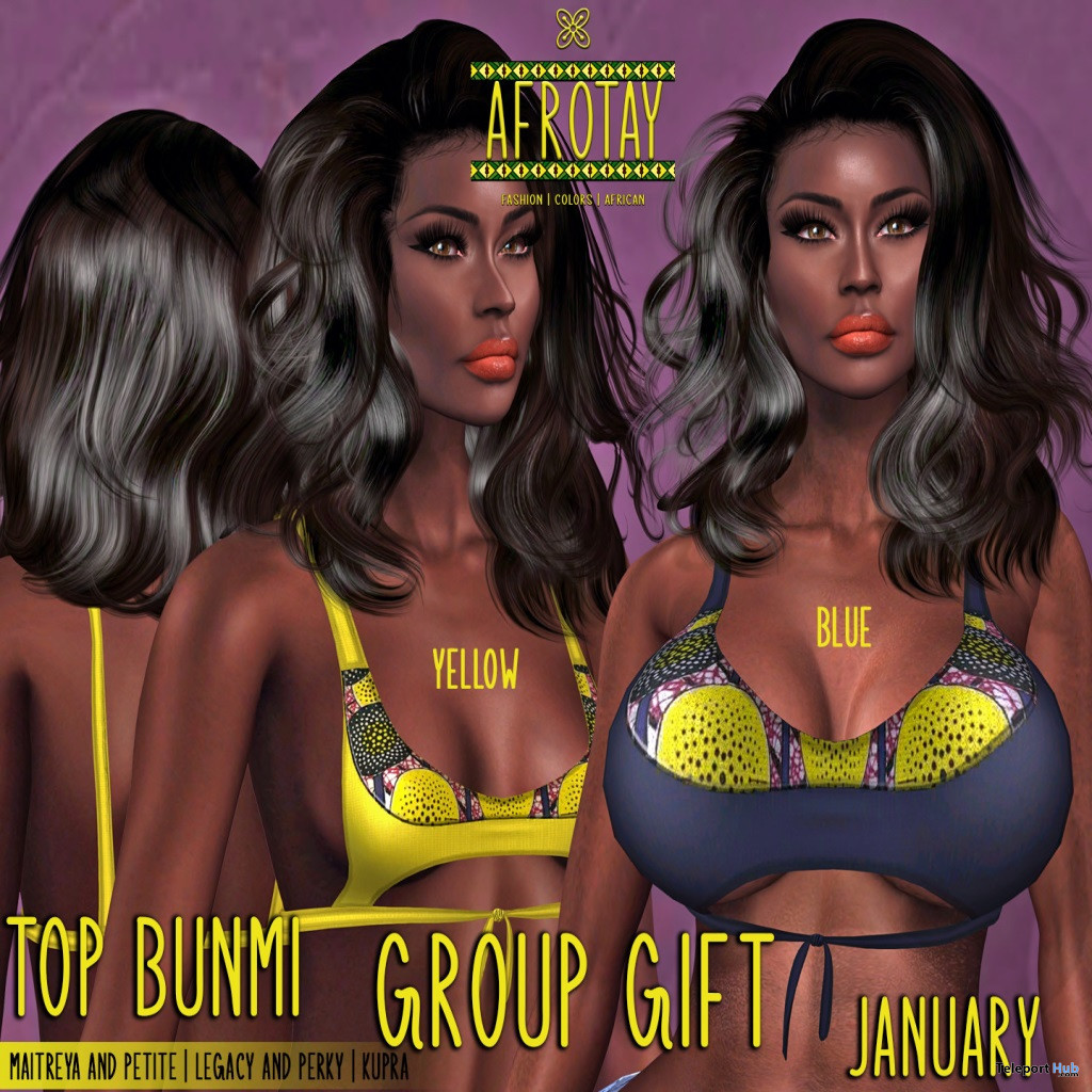 Bunmi Top January 2021 Group Gift by AFROTAY - Teleport Hub - teleporthub.com