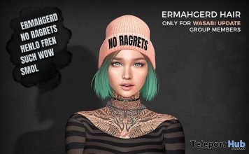 Ermahgerd Hair January 2021 Subscriber Gift by Wasabi - Teleport Hub - teleporthub.com