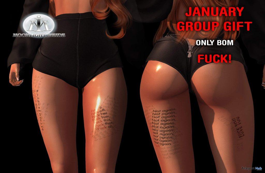 Fck January BOM Tattoo January 2021 Group Gift by Moonlight Inside Tattoo Studio - Teleport Hub - teleporthub.com