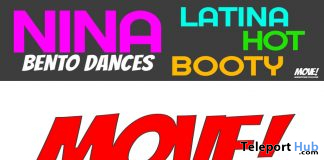 New Release: Nina Girls Latin Booty Bento Dance Pack by MOVE! Animations Cologne - Teleport Hub - teleporthub.com
