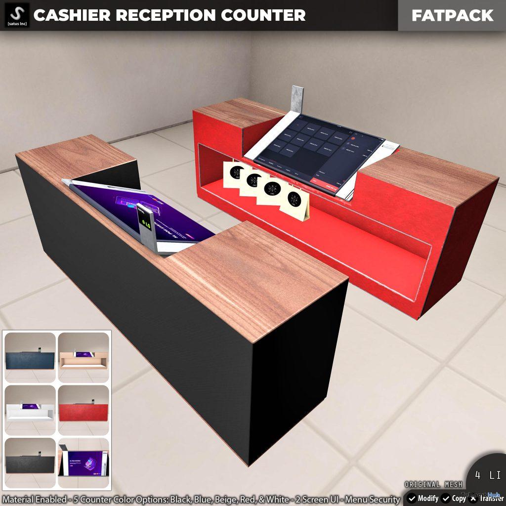 New Release: Cashier Reception Counter by [satus Inc] - Teleport Hub - teleporthub.com