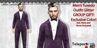 Men's Tuxedo Outfit Exclusive Color January 2021 Group Gift by Miss Canning - Teleport Hub - teleporthub.com