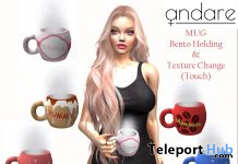 Mug with Bento Holding Pose January 2021 Group Gift by ANDARE - Teleport Hub - teleporthub.com