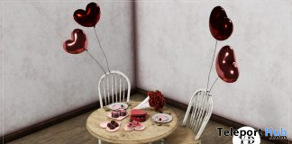 Moment Love Valentine Table & Chair Set Group Gift by {Your Dreams} - Teleport Hub - teleporthub.com