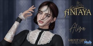 Alisa Lace Cuffs With Color HUD February 2021 Group Gift by ANTAYA - Teleport Hub - teleporthub.com