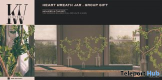 Heart Wreath Jar February 2021 Group Gift by KraftWork - Teleport Hub - teleporthub.com