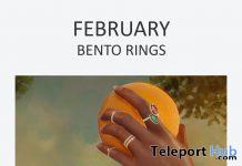 Bento Rings February 2021 Group Gift by OVH - Teleport Hub - teleporthub.com