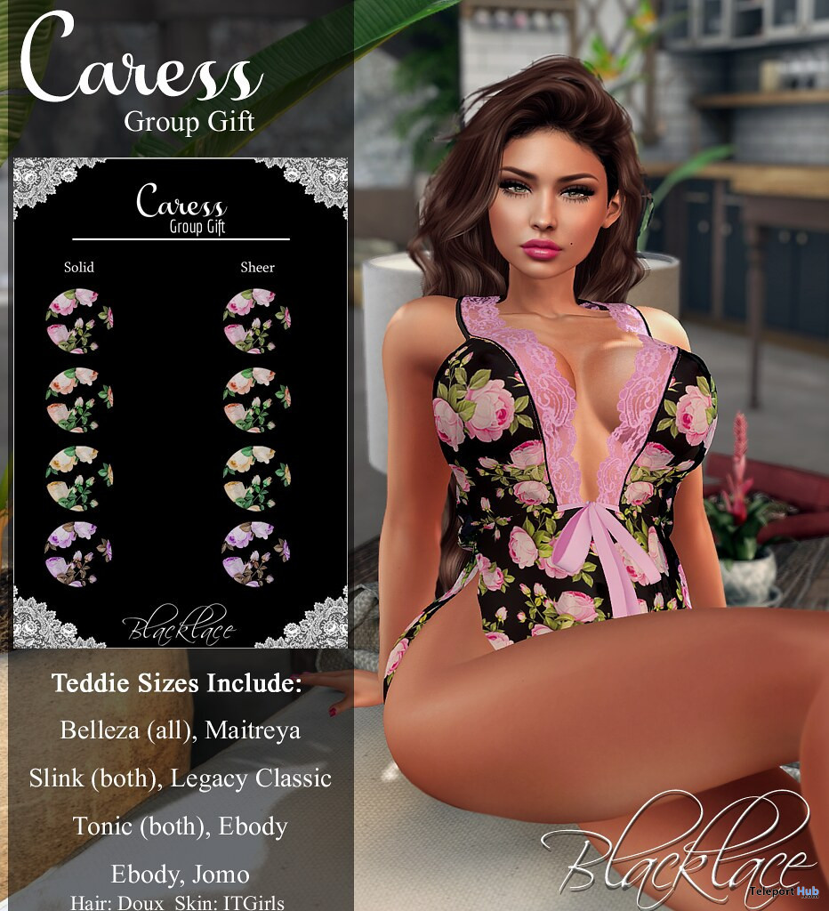Caress Lingerie Pack February 2021 Group Gift by Blacklace - Teleport Hub - teleporthub.com