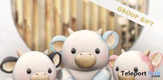 Little Cow Animesh Head & Shoulder Pet February 2021 Group Gift by kotte - Teleport Hub - teleporthub.com
