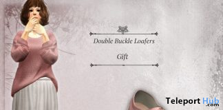 Double Buckle Loafers February 2021 Group Gift by S@BBiA - Teleport Hub - teleporthub.com