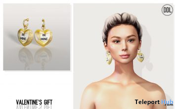 Be Mine Earrings February 2021 Group Gift by [DDL] Accessories - Teleport Hub - teleporthub.com