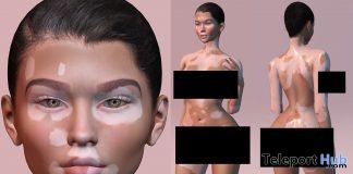 Vitiligo Full BOM Skin February 2021 Group Gift by Mignonne - Teleport Hub - teleporthub.com