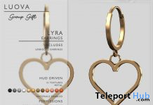Lyra Heart Earrings Fatpack February 2021 Group Gift by Luova - Teleport Hub - teleporthub.com