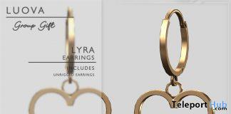 Lyra Heart Earrings Fatpack February 2021 Group Gift by Luova - Teleport Hub - teleporthub.com