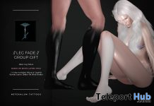 Leg Fade Tattoo BOM February 2021 Group Gift by Nefekalum Tattoos - Teleport Hub - teleporthub.com