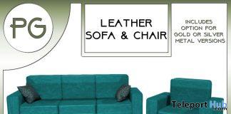 Teal Sofa & Chair Set February 2021 Group Gift by Careless - Teleport Hub - teleporthub.com